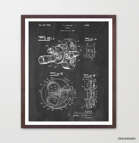 Film Camera - Movie Camera - Patent - Film Art - Cinema Poster - Movie Poster - Cinema Art - Vintage Camera - Movie Art - Film Art