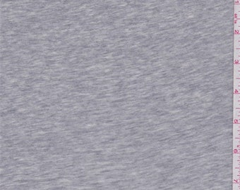 Steel Heather Grey Jersey Knit, Fabric By The Yard