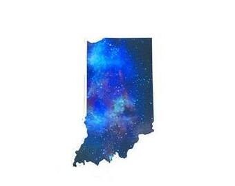 Indiana Galaxy Sticker