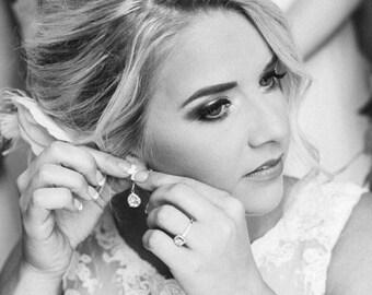 Wedding Earrings, Bridal Earrings, Wedding Jewelry, Crystal Earrings, Gold Earrings,  Bridesmaid Earrings, Bride Earrings, Bridesmaid Gift