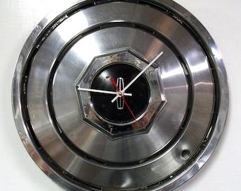 Lincoln Hubcap Clock - 1980 - 1987 Continental Mark Series Town Car Wall Clock - Automotive Decor - 1981 1982 1983 1984 1985 1986