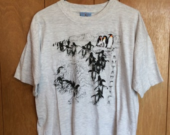 Vintage Antarctica Penguin Tshirt