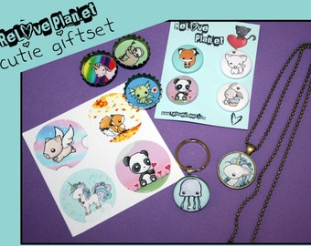 CUTIE GIFTSET - Bundle Kit Pack - kawaii gift set - ReLove Plan.et