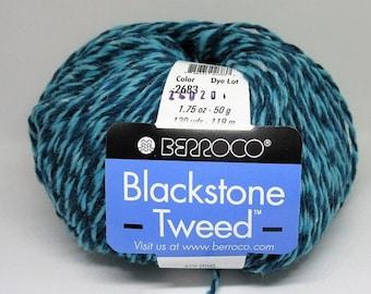 ON SALE New Berroco Blackstone Tweed 100 Wool Blend Yarn/1 Ball/Seaside/ 2683