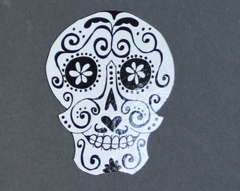 Day of the Dead Sugar Skull Car sticker (w/mustache) #98