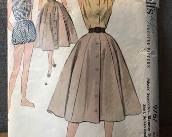 Vintage 50s McCall's 9767 Activewear Pattern-Size 16 (34-28-37)