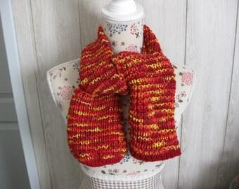 Multicolor scarf in wool