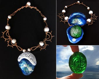 Moana's Necklace and The Heart of Te Fiti