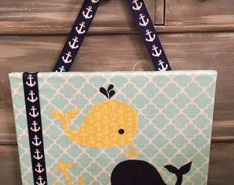 Nautical Whale Wall Hanging