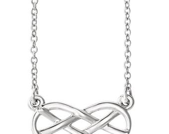 Sterling Silver Infinity-Inspired Knot Necklace