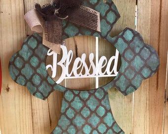 Cross, cross door hanger, blessed, blessed cross, religious, religious gifts