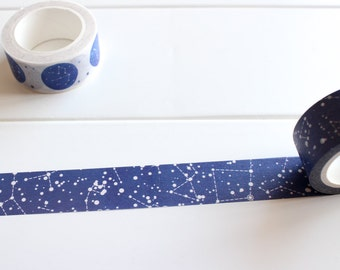 Galaxy Washi Tape, Sky Washi Tape, Starry Night Washi, Universe, Space, Constellations, Zodiac, Star Sign, Planner Stickers (NT-113)