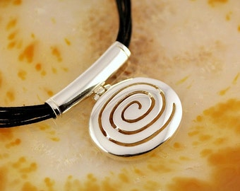 spiral silver pendant, spiral pendant, greek pendant, Aphrodites pendant, sterling silver pendant, greek jewelry, goddess jewelry, greek