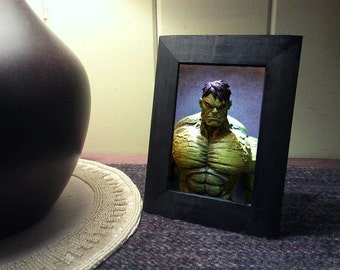 "Framed Avengers Hulk Action Figure Toy Photograph 4"" x 6"" Comic"