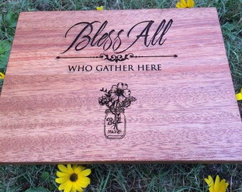 Cutting Board, Country Home Decor,Mahogany Cutting Board, Personalized Gift, Home and Living, Kitchen and Dining, Wedding Gift,