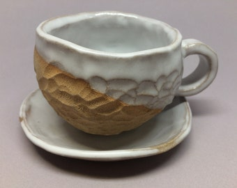 Earth color coffee cup set,unique,handmade,ceramic ,pottery,gift, housewarming , kitchen, dining
