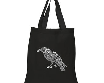 Small Tote Bag Created Using the First Few Lines from Edgar Allen Poe's The Raven