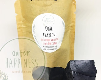 Activated Charcoal Soap, Coal soap. stocking stuffer