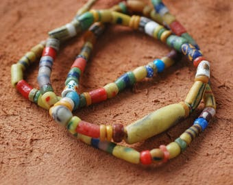 African Trading Beads Necklace Handcrafted from Ghana