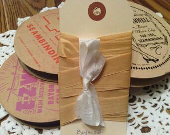 Vintage Buttercup Woven Edge Rayon Seam Binding