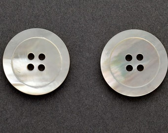 7/8 inch Mother of Pearl Shell Buttons, 4-Hole Button - 2PCS, GN-2097