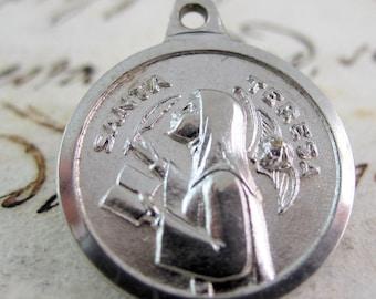 Cute Saint Teresa of Avila Vintage Religious Medal - Spain (Saint Teresa of Jesus)