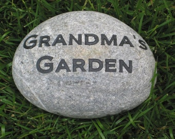 Mother's Day Gifts, Father's Day Gifts. Gifts, Personalized Garden Stone, Gift for Mom, Dad, Engraved Stone Garden Stone 8-9 Inch