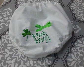 St. Patrick Embroidered Baby Bloomers
