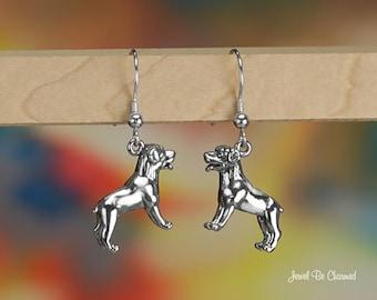 Rottweiler Earrings Sterling Silver Pierced Fishhook Earwires .925