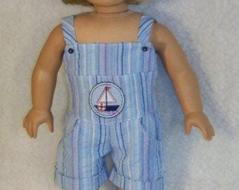18 inch Doll Sea Breeze Romper With Optional Sandals