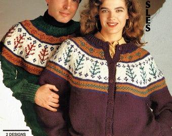 Bouquet 1237 - Men's and Women's Fall Fairisle Sweaters