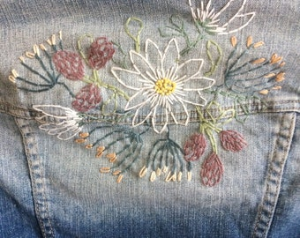 Unique Jacket jeans / hand embroidered / 10 years