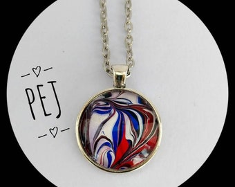 Handpainted,cabochon,pendant,necklace,giftsforher,jewelry.glass