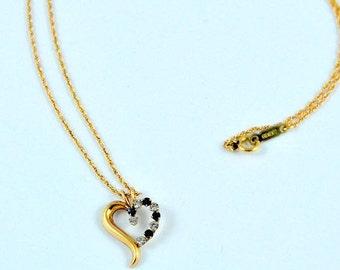 Krementz pendant, heart pendant, rolled gold pendant