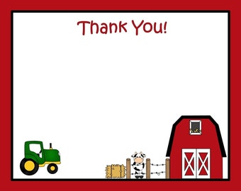 20 Down on the Farm THANK YOU Cards