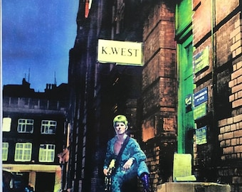 David Bowie Ziggy Stardust poster playing guitar  24 X 36