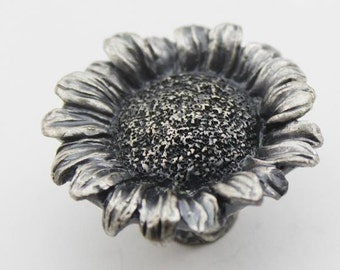 The Sunflower Cabinet Knobs / Dresser Knobs / Drawer Knobs / Drawer Pull Handles / Pulls Handle Unique Antique Silver A063
