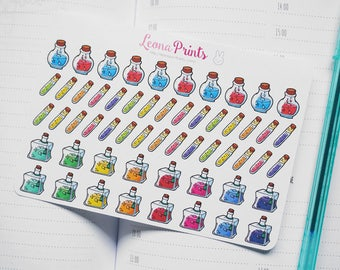 Fantasy Potions and Flasks Planner Stickers | Stationery for Erin Condren, Filofax, Kikki K and scrapbooking