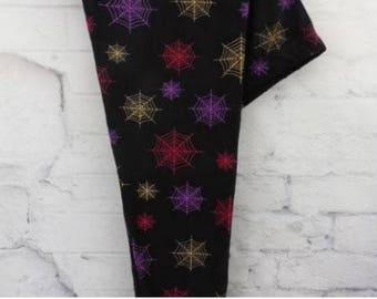 Plus Size Colorful Spider Web Halloween Leggings