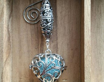 Silver Heart Fragrance Ornament