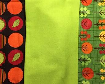 set of 3 matching PATCHWORK fabric Robert kaufman and Michael Miller