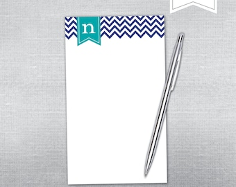 Chevron and swag Personalized Notepad. Teacher gift. Gift.