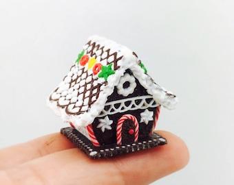 Dollhouse miniature 1:12 Merry Christmas Gingerbread House!!