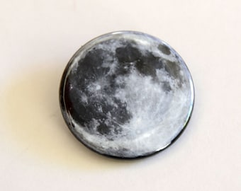 Full Moon Lunar Magnets celestial button or magnet gift, moon accessory, nasa, moon gift, moon & space