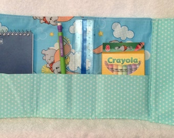 Art Kit or Crayon Wallet - Disney Themed - Dumbo