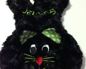 Cat Black Plush Bean Bag