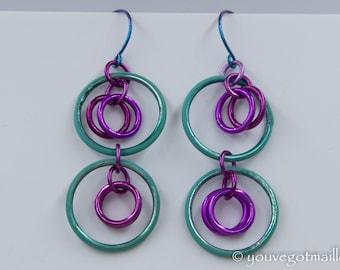 Hypoallergenic Free Hanging Loops Earrings