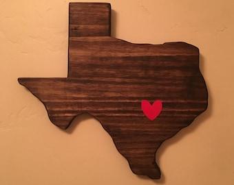 Texas Heart Wall Decor