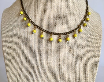 Beaded necklace / choker necklace / chain necklace