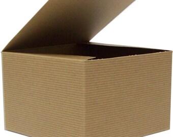 Kraft Gift Box (10) * 4.5 x 4.5 x 6 * gift wrap * packaging supplies * wedding * shower